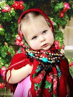 - ''Am I pretty in the granny's Russian shawl and in the mummy's Indian necklace?'' Russian cutie