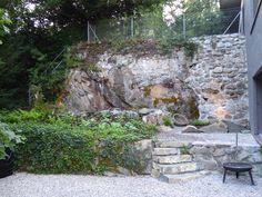 Aménagement complet du jardin, création d\'un canal avec muret et ...