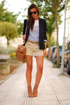 stripes and blazer <3