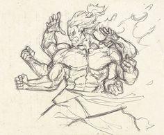 Akuma by Matias Bergara Human Anatomy Drawing, Anatomy Art, Comic Style Art, Comic Art, Drawing Reference Poses, Drawing Poses, Anime Drawings Sketches, Cool Drawings, Street Fighter Characters