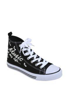 Gotta love foot stompin' music // Music Is My Life Hi Top Sneakers