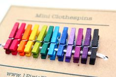 Hey, I found this really awesome Etsy listing at http://www.etsy.com/listing/124055660/rainbow-mini-clothespins-set-of-12