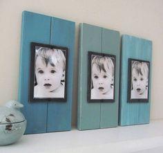 Leuk idee: foto's op houten (geverfde) panelen