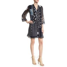 Diane von Furstenberg Layla Patched Dots Pleated Silk Dress buy online >>>$$price $498.00 At : Top10dresses #Diane-von-Furstenbergdress #Diane #von #Furstenberg #Layla #Patched #Dots #Pleated #Silk #Dress #buy #online