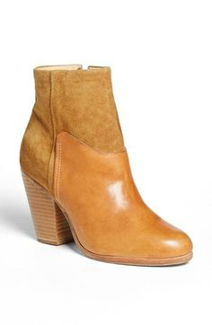 rag & bone 'Kendall' Leather & Suede Bootie available at #Nordstrom  DROOL