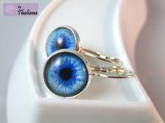 Augenohrringe ***Blick der Meerjungfrau*** Ohrringe by Thaliana von Thaliana - Funkeln in allen Facetten! auf DaWanda.com