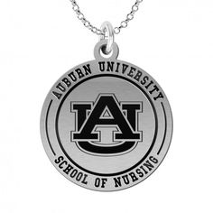 Auburn University School of Nursing Charm is designed with quality in mind. Traditionally you see charms that are constructed from materials that are designed to last a short time. These charms are made with premium, tarnish resistant, solid sterling silver with a deep engraving. You can have these charms made with a black enamel background for contrast or a natural finish for a more subtle look. We use a combination of modern technology to mark the charms and traditional methods to hand…