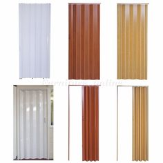 Plastic Folding Door PVC Gloss Washable Doors Sliding Panel Divider Lock New