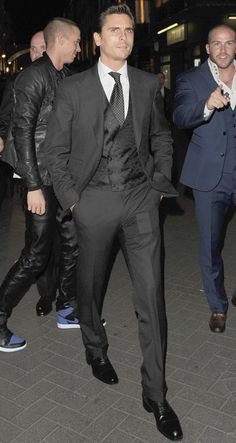 Can't go wrong with a black suit-- Scott disick