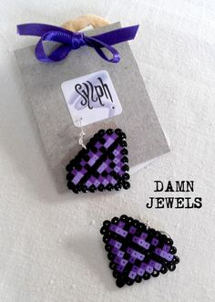 Earrings made of Hama Mini Beads Damn Jewels by SylphDesigns, €7.00