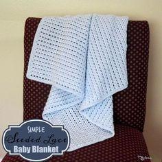 Simple Seeded Lace Baby Blanket ~ FREE Crochet Pattern