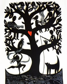 Sue Codee - Family Tree with Coral detail
