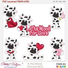In The MOOd For Love Layered Element Templates #CUdigitals cudigitals.com cu commercial digital scrap #digiscrap scrapbook graphics