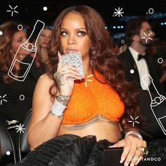 Save this to learn how to make your own DIY bedazzled flask like Rihanna's Grammy accessory in only 10 minutes.