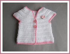 Rosebud Baby Top - DK version - 0-3 months          Rosebud Baby Girl Crochet Jacket  DK version          ...