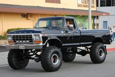 lifted black 78 Ford truck