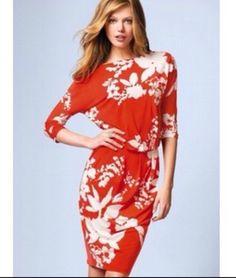 NWOT Victoria s Secret Orange Floral Dress sz Small