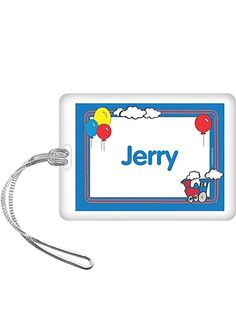 Train Party Personalized Bag Tag