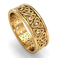 Celtic Gold Wedding Bands – wedding and bride inspiration - İrische Eheringe Irish Wedding Rings, Celtic Wedding Bands, Gold Wedding Rings, Wedding Jewelry, Mood Ring Colors, Celtic Engagement Rings, Celtic Rings, Jewelery, Rings For Men