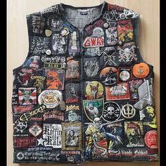 Michael from Germany #battlejacket #metalpatches #metaljacket #kutte #bandpatch #bandpatches #battlevest #heavymetal #thrashmetal #denimjacket #patchedvest #deathmetal #metalpatches #metal #wovenpatch #paradiselost #metalmaniac #nuclearassault #vader