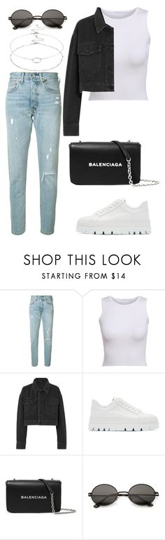 """""""Untitled #2142"""" by kellawear on Polyvore featuring Levi's, Alexander Wang, MM6 Maison Margiela, Balenciaga and Accessorize"""