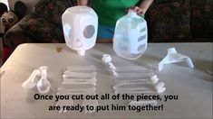 How to Make Mr. My sister and I love Halloween and this year we decided we wanted to share our Halloween tradition of how to make Mr. We started this tradition back when we were in elementary school and every year since then Halloween Milk Jugs, Halloween Bottles, Halloween Skeletons, Plastic Bottle Crafts, Recycle Plastic Bottles, Halloween Crafts For Toddlers, Halloween Diy, Bone Crafts, Halloween Traditions