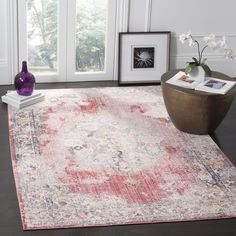 Safavieh Bristol Bohemian Pink/ Grey Polyester Area Rug (9' x 12')   Overstock.com Shopping - The Best Deals on 7x9 - 10x14 Rugs