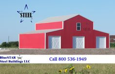 Farmer's Utility Barn, low cost metal barn, steel barn, metal barn - Call for a quote Steel Barns, Metal Barn, Steel Buildings, Shed, Outdoor Structures, Quote, Barn Tin, Quotation, Qoutes