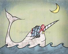 Tiarrrghed 8 x 10 Print Kids Artwork Baby Boy Nursery Decor Nautical Pirate