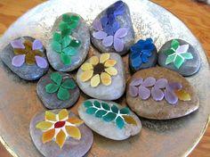 Mosaic garden art nature art decorative stone by GardenHomeArt, $20.00