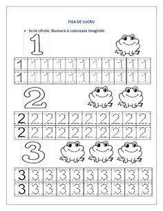 FISE cu cifre pentru clasa pregatitoare - Cifre punctate / Recapitulare cifre | Fise de lucru - gradinita Preschool Number Worksheets, Preschool Writing, Numbers Preschool, Preschool Learning Activities, Preschool Curriculum, Kindergarten Worksheets, Worksheets For Kids, Teaching Kids, Kids Learning