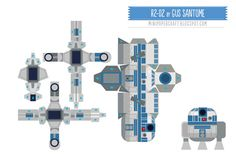 Image detail for -693 R2D2 paper toy star wars template Robot R2 D2