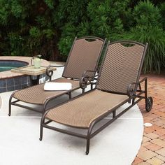 Transform your outdoor living space with Stonewick Sun Lounger. Made with all-weather durability. which is resistant to stains. and UV. The powder coated aluminum frame is rust-proof. lightweight and provide excellent stability. Wicker Furniture, Outdoor Furniture Sets, Outdoor Decor, Outdoor Ideas, Poolside Furniture, Backyard Shade, Shade Structure, Sun Lounger, Outdoor Living