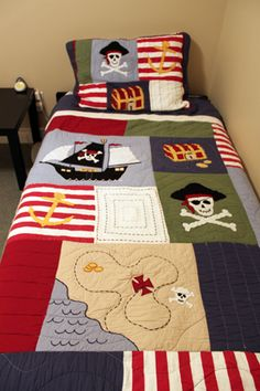 Perfect pirate bedroom for a little boy. I just don't know a little boy who likes pirates