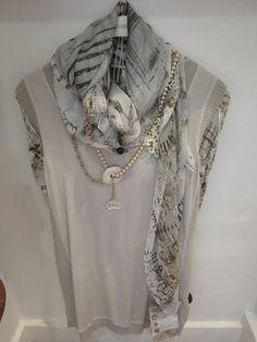 Elisa Cavaletti printed top - £145.00 Elisa Cavaletti top - £89.95 Elisa Cavaletti scarf - £79.95 Elisa Cavaletti belt/necklace - £89.00 (was £125.00)