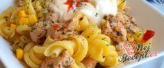 Těstovinový salát s kuřecím masem a pikantním dipem Wok, Macaroni And Cheese, Salads, Ethnic Recipes, Zucchini Cobbler, Top Recipes, German Cuisine, Bakken, Noodle Salads
