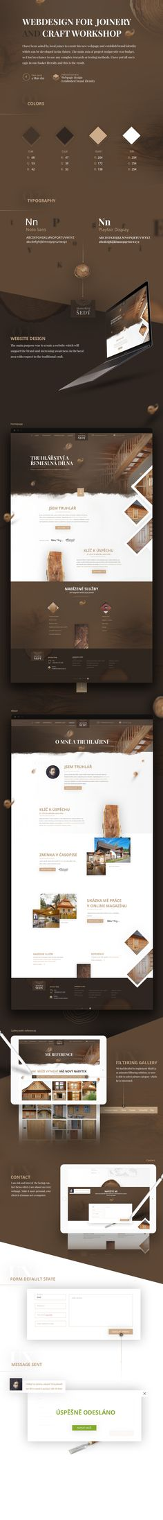 Webdesign for Joinery and local workshop Web Design, Joinery, Workshop, Creative, Crafts, Behance, Carving, Design Web, Woodworking