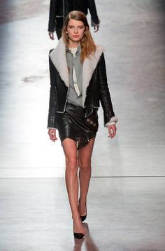 High heels and even higher hemlines on the Anthony Vaccarello #PFW catwalk: http://uk.bazaar.com/1gBJgFH
