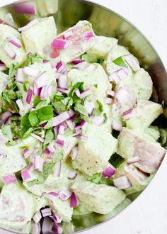Healthy Potato Salad with Creamy Pesto Dressing