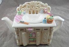 Ceramic Bathroom Sink Vanity Tea Pot Art Deco