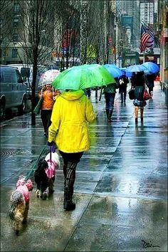 Umbrellas Photograph - Rainy Day In Manhattan by Peggy Dietz Rain Umbrella, Under My Umbrella, Walking In The Rain, Singing In The Rain, Rainy Night, Rainy Days, I Love Rain, Rain Go Away, Rain Art