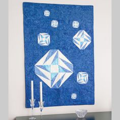FIRST FROST: Foundation Pieced Wall Quilt Pattern Designed by TAMMY SILVERS Machine quilted by PAT YEARWOOD Sparkling like the first icy crystals of winter, the foundation-pieced blocks in First Frost give this wall hanging quilt style and presence. Pattern in the September/October 2016 issue of McCall's Quilting
