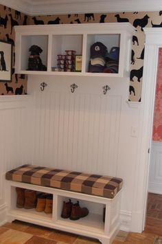 small mud room | cute mud room...simple and small enough for our space. Change ... | I ...