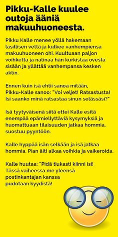 Vitsit: Pikku-Kalle kuulee outoja ääniä makuuhuoneesta - Kohokohta.com Finland, Asia, Jokes, Nice, Chistes, Memes, Funny Pranks, Lifting Humor, Humor