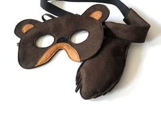 Bear Mask and Tail for Kids Children Animal Costume by BHBKidstyle, €19.00
