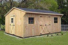 12' x 16' Utility Storage Saltbox Shed Plans 71216   eBay
