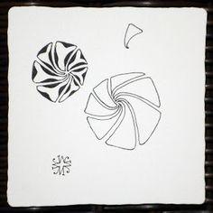 Zentangle using a Tripoli variation by Maria Thomas, Zentangle founder