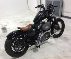 Conversion For HD Sportster Harley Nightster, Hd Sportster, Custom Sportster, Harley Bobber, Bobber Chopper, Harley Davidson Sportster, Harley Davidson Motorcycles, Custom Motorcycles, Bobber Style
