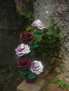 Rosas bordô.