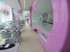 """10 extraordinarily designed hotels :::   7. nhow Berlin, Berlin, Germany ::: """"From the brightly coloured, futuristic welcome received in the lobby, to the glowing..."""""""